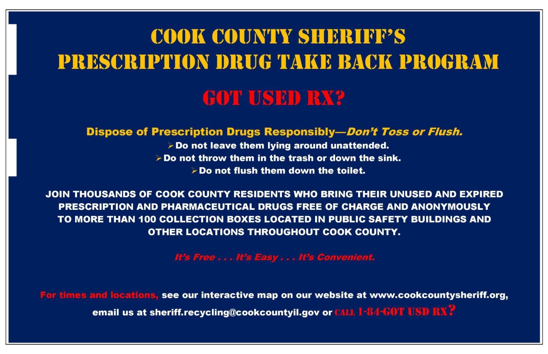 County Drug Poster