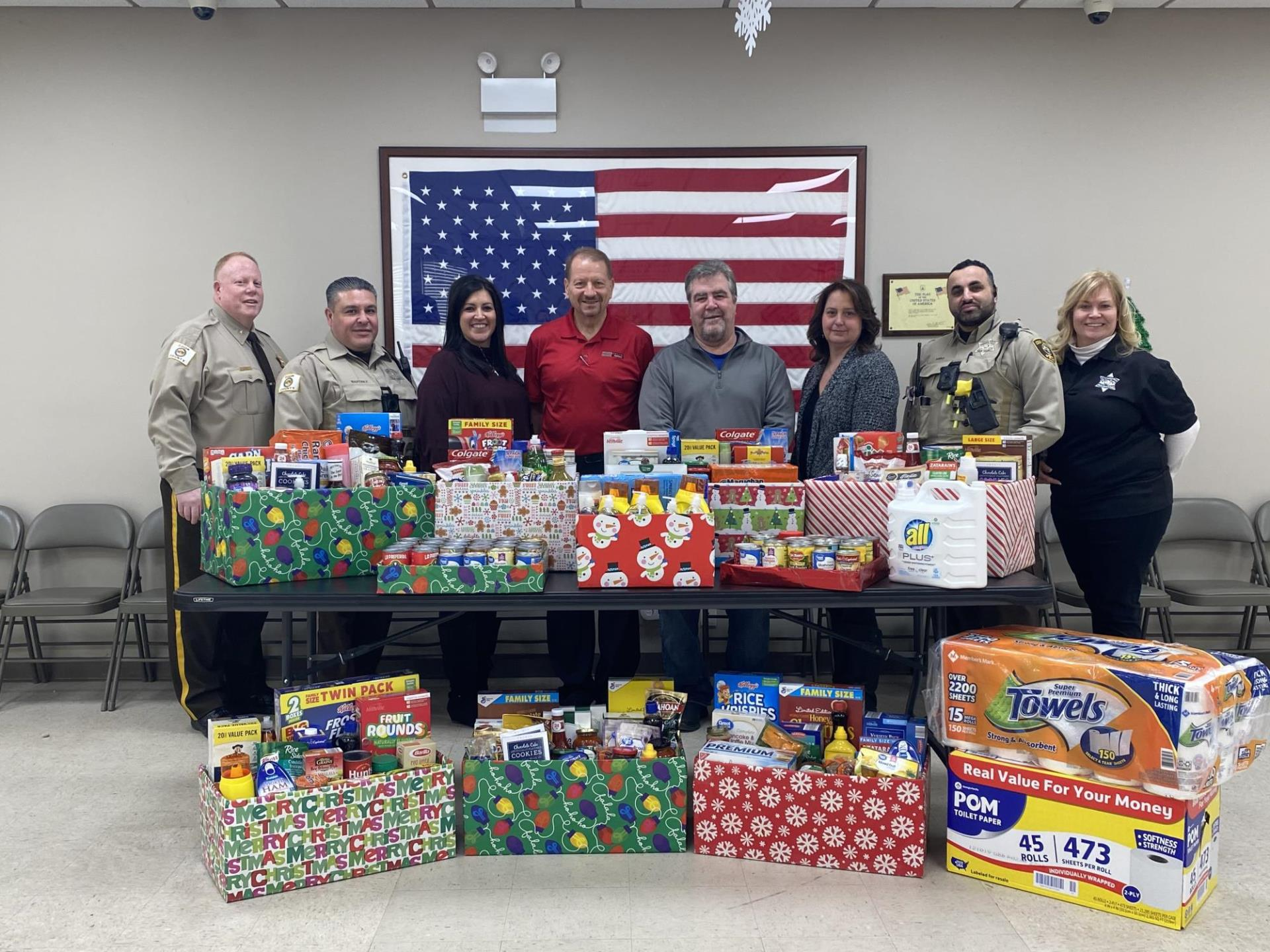 Food Donation County Police